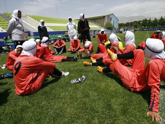 The Iranian women's team must wear their hijabs while competing (AFP/Getty)