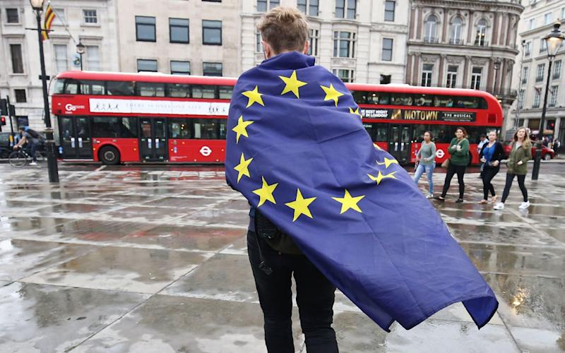 The Survation survey showed a clear majority of Britons (54%) would vote to Remain in the European Union - AFP
