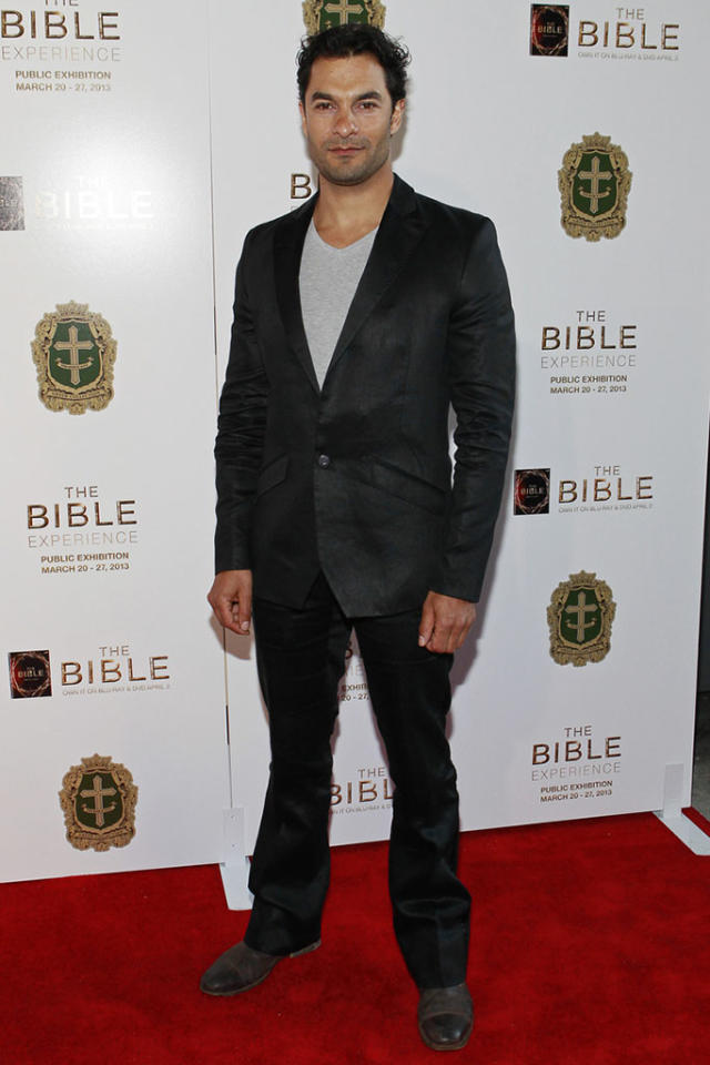 "Darwin Shaw arrives at ""The Bible Experience"" opening night gala, a rare exhibit of biblical artifacts, in New York City on Tuesday, March 19 in New York."