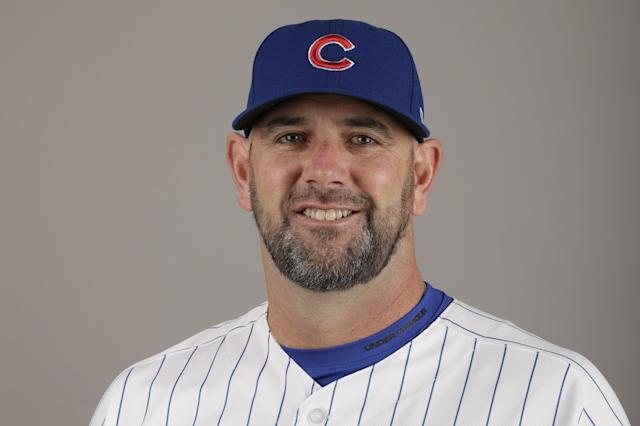 This is a 2017 photo of Brandon Hyde of the Chicago Cubs baseball team. This image reflects the Cubs active roster as of Tuesday, Feb. 21, 2017, when this image was taken. (AP Photo/Morry Gash)