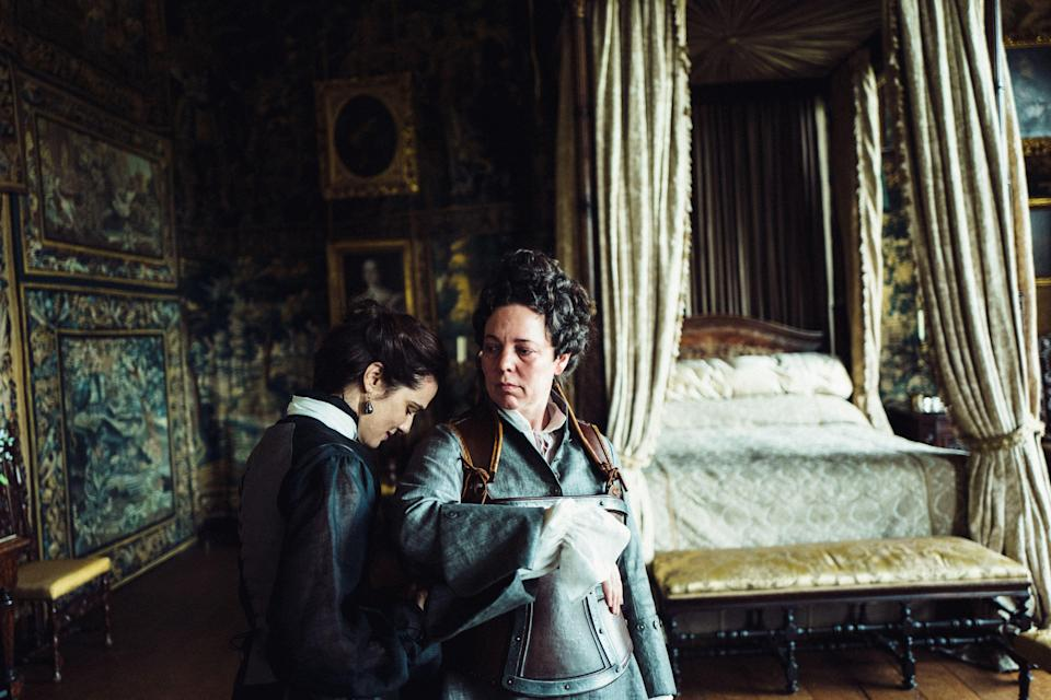 "<p><strong><em>The Favourite</em></strong>(2019)</p><p>Queen Anne's (Olivia Colman) court is a den of intrigue, debauchery and stylish backstabbing. Lady Sarah Churchill (Rachel Weisz), the monarch's constant companion and confidante, wields incredible power. While the queen tends her rabbits, she commands armies and aristocratic opponents — and that's how she likes it. But when Abigail Masham (Emma Stone) threatens to upset the order of things, the battle for the queen's affections turns into a mesmerising game of cat, mouse, and <a href=""https://www.refinery29.com/en-gb/2019/02/224543/the-favourite-movie-oscars-production-design-film-set"" rel=""nofollow noopener"" target=""_blank"" data-ylk=""slk:duck racing"" class=""link rapid-noclick-resp"">duck racing</a>.</p><p><strong>Why You Should Watch It:</strong><a href=""https://www.refinery29.com/en-gb/2019/01/221547/the-favourite-twitter-reactions"" rel=""nofollow noopener"" target=""_blank"" data-ylk=""slk:Yorgos Lanthimos' film"" class=""link rapid-noclick-resp"">Yorgos Lanthimos' film</a> doesn't have one lead — it has three. Each female character is portrayed with a compelling, rare complexity that simultaneously <a href=""https://www.refinery29.com/en-gb/2018/11/217566/the-favourite-review-olivia-colman-rachel-weisz"" rel=""nofollow noopener"" target=""_blank"" data-ylk=""slk:makes them all the villain and the hero"" class=""link rapid-noclick-resp"">makes them all the villain <em>and</em> the hero</a>. And that's incredibly rare. Watch out, though. With <a href=""https://www.refinery29.com/en-us/2019/02/224247/the-favourite-movie-quotes-insults#slide-8"" rel=""nofollow noopener"" target=""_blank"" data-ylk=""slk:dialogue that sharp"" class=""link rapid-noclick-resp"">dialogue that sharp</a>, you could hurt yourself if you're not careful.</p>"