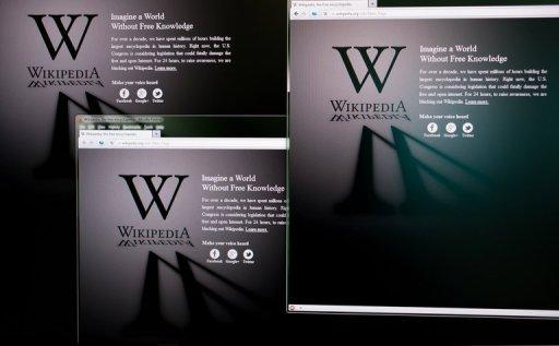 The Russian-language Wikipedia website shut down Tuesday and symbolically blacked out its logo in protest at a bill that would allow the state to block access to blacklisted websites