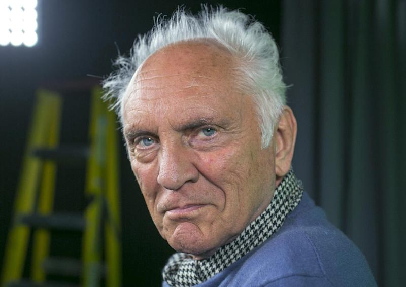 """In this Wednesday, June 12, 2013 photo, English actor Terence Stamp poses for a photo during an interview in Los Angeles. Before """"Man of Steel"""" and Michael Shannon, there was Stamp delivering what debatably remains the quintessential screen version of General Zod: perhaps the most frightening of all the screen villains to take on Christopher Reeves' Superman. Some 35 years later, Stamp is back onscreen -- sometimes frightfully, always delightfully grumpy as a pensioner who finds his lost voice, and heart, in a local seniors choir in the drama, """"Unfinished Song."""" (AP Photo/Damian Dovarganes)"""