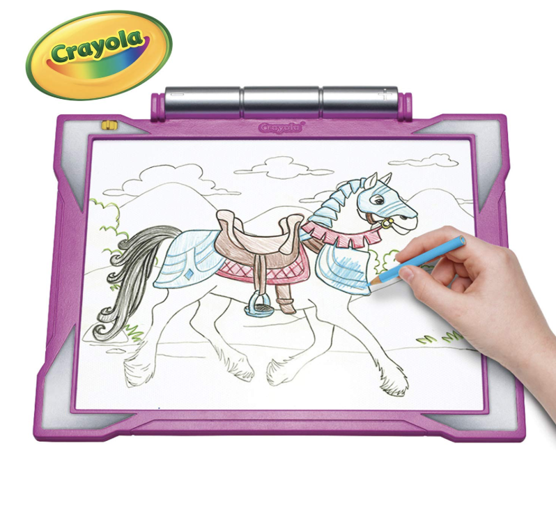 """<p><strong>Crayola</strong></p><p>amazon.com</p><p><strong>$46.49</strong></p><p><a href=""""https://www.amazon.com/dp/B0084JUNVU?tag=syn-yahoo-20&ascsubtag=%5Bartid%7C10055.g.29389667%5Bsrc%7Cyahoo-us"""" rel=""""nofollow noopener"""" target=""""_blank"""" data-ylk=""""slk:Shop Now"""" class=""""link rapid-noclick-resp"""">Shop Now</a></p><p><a href=""""https://www.goodhousekeeping.com/holidays/gift-ideas/g29589435/best-gifts-for-artists/"""" rel=""""nofollow noopener"""" target=""""_blank"""" data-ylk=""""slk:For little artists"""" class=""""link rapid-noclick-resp"""">For little artists</a>, this ultra-sleek, pink pad comes with horse and fashion show pictures to trace, but there are even more free, downloadable templates you can get <a href=""""https://go.redirectingat.com?id=74968X1596630&url=https%3A%2F%2Fwww.crayola.com%2Ffeatured%2Ffree-coloring-pages%2F&sref=https%3A%2F%2Fwww.goodhousekeeping.com%2Fchildrens-products%2Ftoy-reviews%2Fg29389667%2Fbest-toys-gifts-for-7-year-old-girls%2F"""" rel=""""nofollow noopener"""" target=""""_blank"""" data-ylk=""""slk:online"""" class=""""link rapid-noclick-resp"""">online</a>. The kit also includes a graphite pencil, blank sheets and colored pencils for drawing and shading. The coolest part about this pad is that <strong>it lights up, giving her more time to explore her creativity during the night</strong>. <em>Ages 6+</em></p>"""