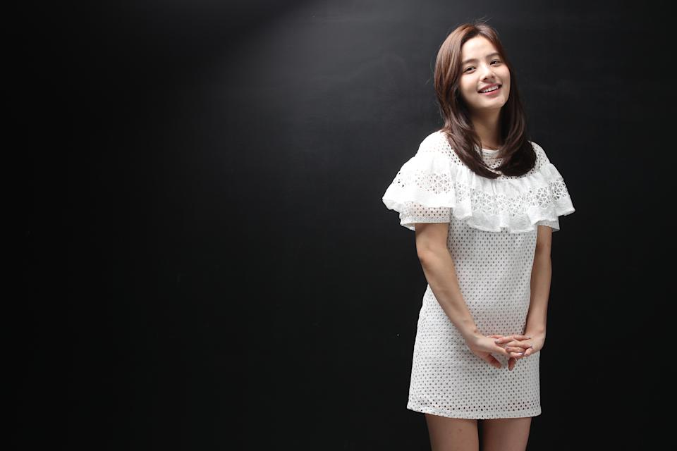 Song Yoo-Jung poses for photographs
