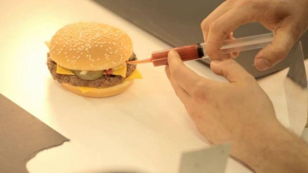 A still from the film: rebuilding the burger