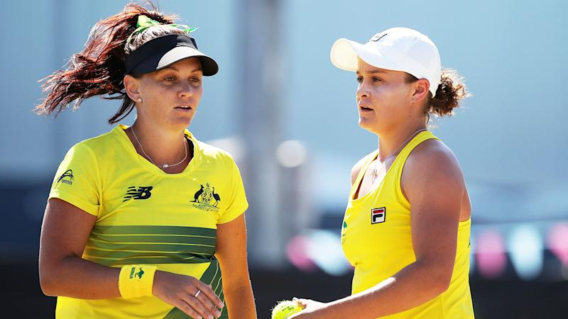 Seen here, Ash Barty and Casey Dellacqua are regular doubles partners.