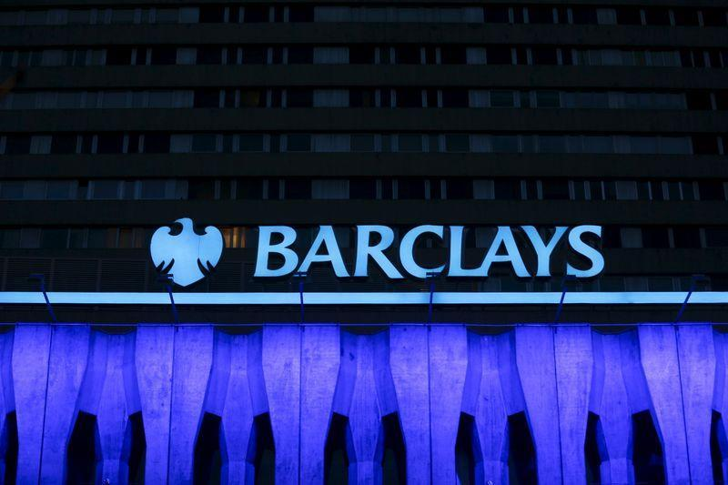 File photo of the logo of Barclays seen on the top of one of its branch in Madrid