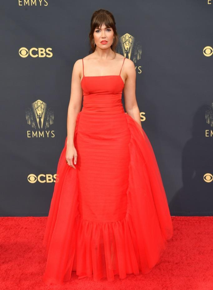 Mandy Moore at the 2021 Emmy Awards. - Credit: PMC