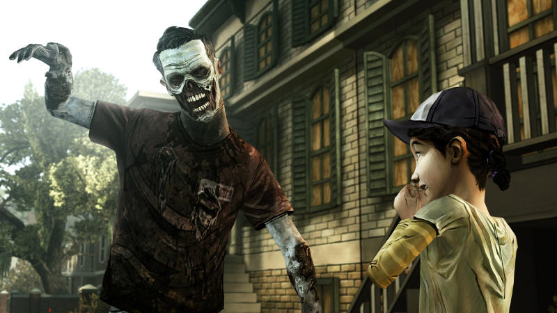 """FILE - This undated publicity photo provided by Telltale Games shows a scene from the video game, """"The Walking Dead: The Game."""" The stealthy revenge drama """"Dishonored,"""" artsy puzzler """"Journey,"""" sci-fi sequel """"Mass Effect 3,"""" zombie survival saga """"The Walking Dead: The Game"""" and old-school strategy title """"XCOM: Enemy Unknown"""" are up for the game of the year trophy at the 13th annual Game Developers Choice Awards on Wednesday, March 27, 2013. (AP Photo/Telltale Games, File)"""