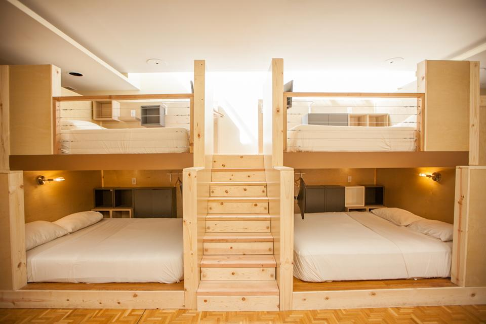 """A """"co-living"""" bunk space at PodShare's San Francisco location in the Tenderloin district."""