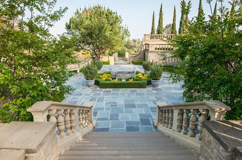 The mansion's picturesque grounds are open to the public.