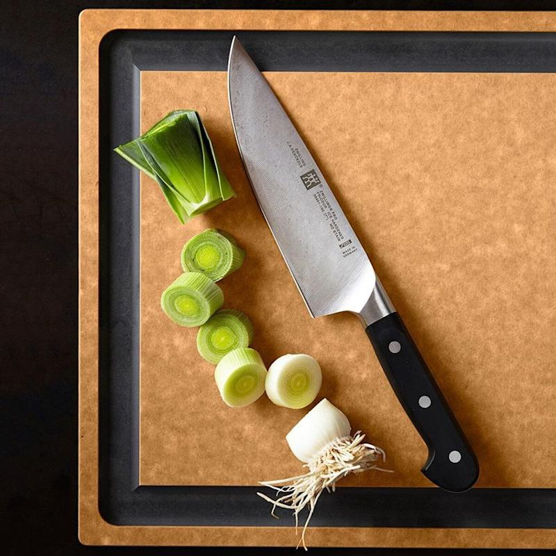 "Everyone needs one of these, from the novice chef to the trained pro. Get it <a href=""http://www.williams-sonoma.ca/zwilling-pro-black-7-chefs-knife"" target=""_blank"" rel=""noopener noreferrer"">at Williams-Sonoma</a> for $74.95."