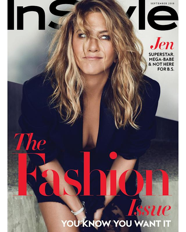 Jennifer Aniston addresses speculation about her parenting plans in the September issue of <i>InStyle</i>. (Photo: Ben Hassett/InStyle)