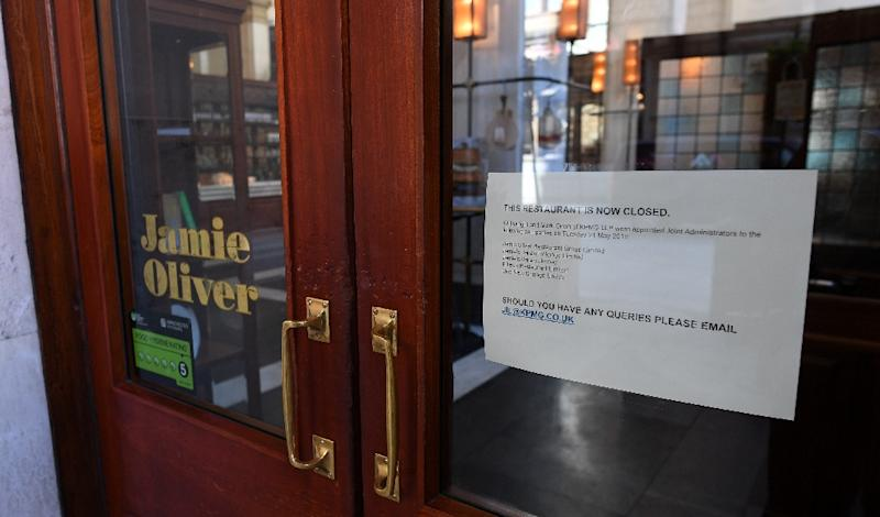 Jamie's Italian restaurant in Manchester, northern England has closed and the chain has been placed in administration (AFP Photo/Paul ELLIS)