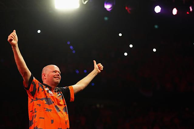 Raymond van Barneveld had announced his immediate retirement from darts following defeat in the Premier League to Michael van Gerwen (Getty)