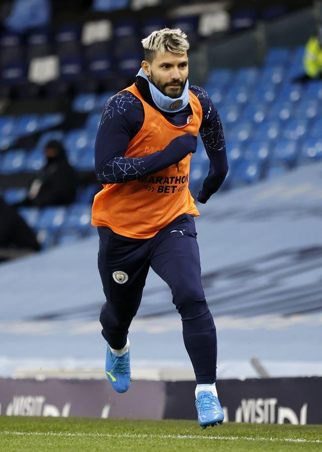 Aguero's return to action is being carefully managed