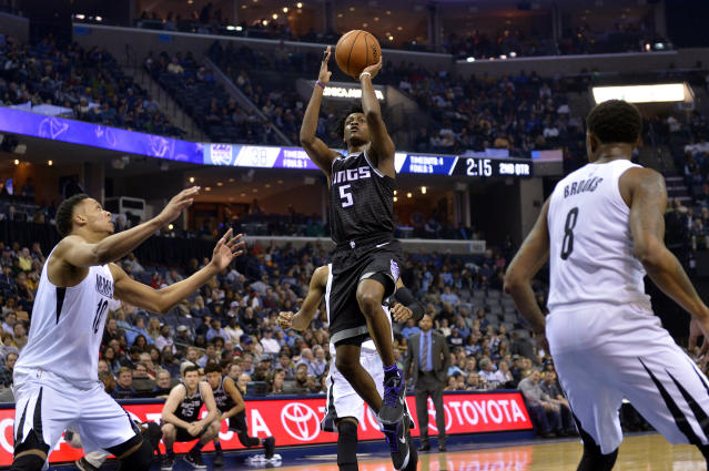 De'Aaron Fox is a big part of the foundation for the Sacramento Kings going forward. (AP)