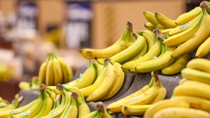 Las Vegas, NV, USA 11/5/2019 — Dole Bananas for sale at the produce department at a local Walmart Supercenter store in Southern Nevada.