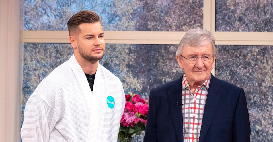 Chris Hughes demonstrated a testicular cancer examination on This Morning in November