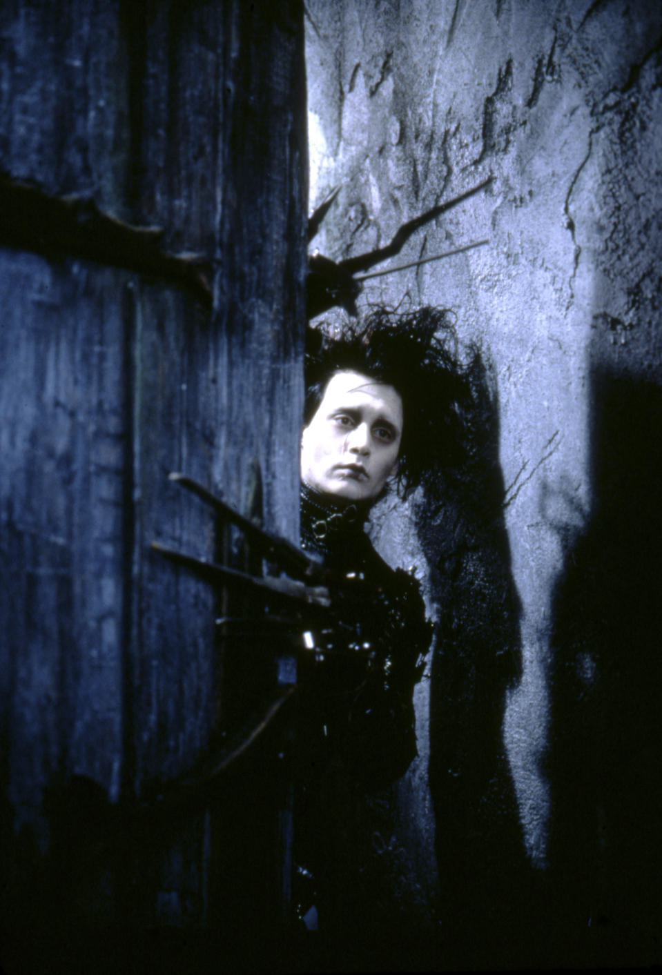 American actor Johnny Depp on the set of Edward Scissorhands, written and directed by Tim Burton. (Photo by Twentieth Century Fox Pictures/Sunset Boulevard/Corbis via Getty Images)