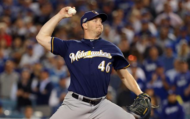 Corey Knebel could end up missing some time for the Milwaukee Brewers. (Getty Images)