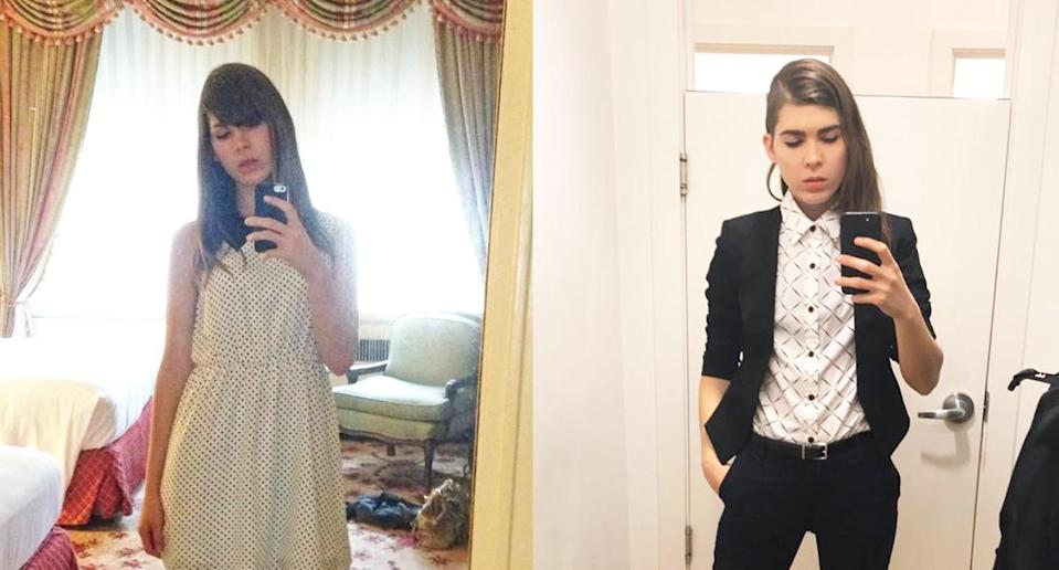 Eli Erlick, a trans woman, used to feel societal pressure to dress like a woman. (Photo: Instagram/Elierlick)