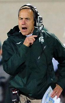 Mark Dantonio isn't one to celebrate, but he couldn't hide his satisfaction after beating Wisconsin