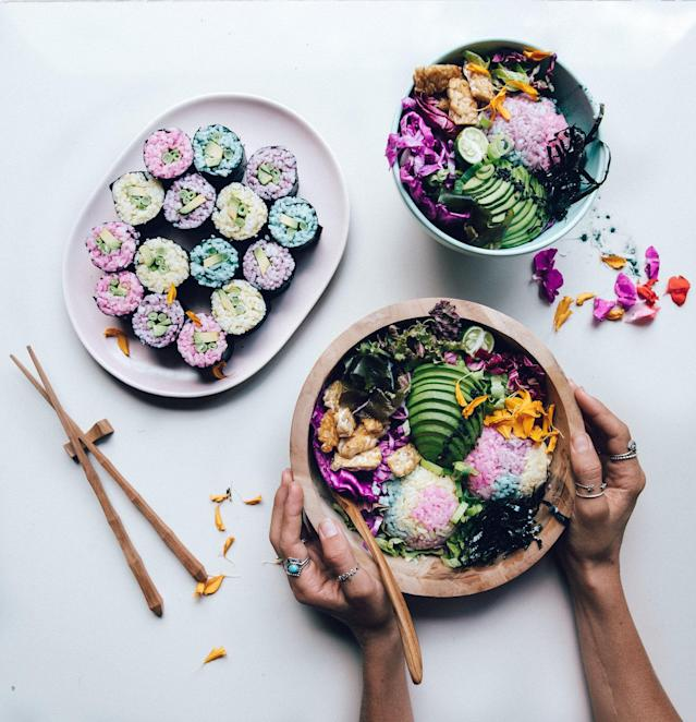 This rainbow Budda bowl is almost too pretty to eat. (Photo: @elsas_wholesomelife)
