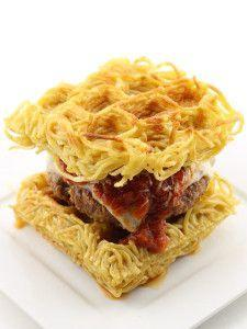 """<p>Carb lovers, this one's for you.</p><p>Get the recipe from <a rel=""""nofollow noopener"""" href=""""http://dudefoods.com/the-waffled-spaghetti-bun-burger/"""" target=""""_blank"""" data-ylk=""""slk:Dude Foods"""" class=""""link rapid-noclick-resp"""">Dude Foods</a>.</p>"""