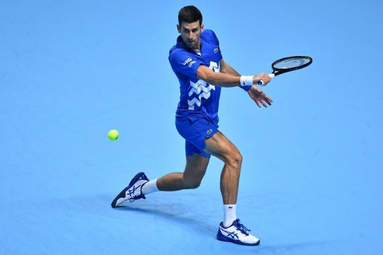 Serbia's Novak Djokovic remains on track for a sixth ATP Finals title