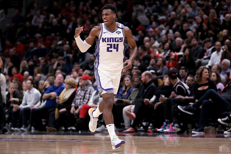 """Luke Walton insisted that his decision to start Bogdan Bogdanovic over Buddy Hield on Friday was """"not a punishment."""" (Dylan Buell/Getty Images)"""