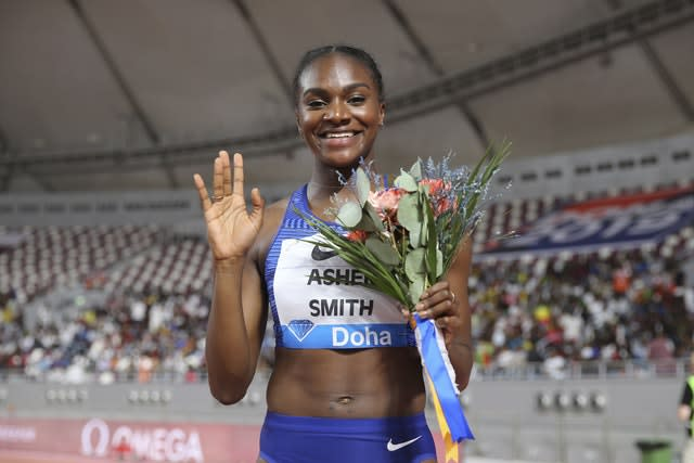 Dina Asher-Smith was also victorious in Doha (Kamran Jebreili/AP).