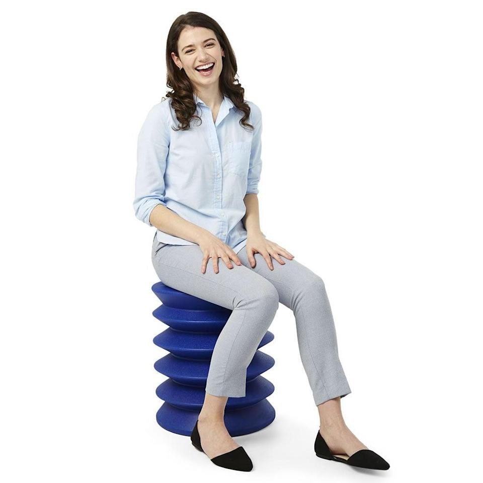 "<h2>Ergonomic Stool</h2> <br><strong>Will Support: Core</strong><br>This zany looking seat is so ergonomically good at strengthening posture, flexibility, and circulation of cores and backs that it has won multiple design awards for doing so (including The Edison Award and The Good Design Award). <br><br><strong>Supported Say:</strong> ""This is beyond fabulous. Amazingly comfortable, much more so than a standard chair for me. The slow movements not only feel good but have played a major role in abating a cranky back of mine. Posture is no problem. The use of this stool seems to strengthen all those lower muscles. I am using it at my desk for a few too many hours a day. I am recommending this to my friends."" <em>– Sara, <a href=""https://www.hammacher.com/product/award-winning-ergonomic-stool"" rel=""nofollow noopener"" target=""_blank"" data-ylk=""slk:Hammacher Schlemmer"" class=""link rapid-noclick-resp"">Hammacher Schlemmer</a> Reviewer</em><br><br><strong>Hammacher Schlemmer</strong> The Award Winning Ergonomic Stool, $, available at <a href=""https://go.skimresources.com/?id=30283X879131&url=https%3A%2F%2Fwww.hammacher.com%2Fproduct%2Faward-winning-ergonomic-stool"" rel=""nofollow noopener"" target=""_blank"" data-ylk=""slk:Hammacher Schlemmer"" class=""link rapid-noclick-resp"">Hammacher Schlemmer</a><br><br><br><br>"
