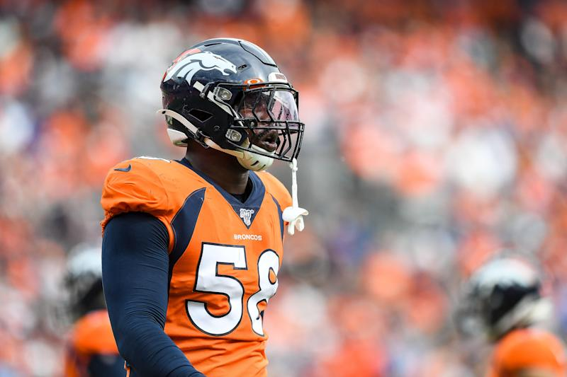 Von Miller didn't have much to say on Thursday. (Getty Images)