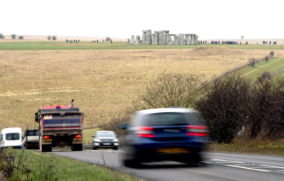 The tunnel aims to restore the tranquil setting of the famous stone circle (Steve Parsons/PA Wire)uk