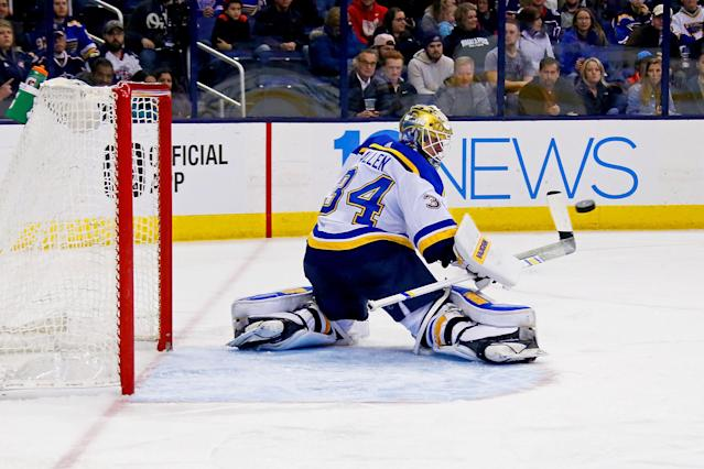 Jake Allen just misses the Elite tier of fantasy goalies. (Photo by Kirk Irwin/Getty Images)
