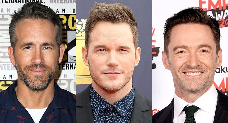Ryan Reynolds, Chris Pratt, and Hugh Jackman cheered on Josh. (Photo: Getty Images)