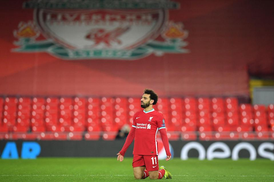 <p>Mo Salah was guilty of missing Liverpool's first - and best - chance</p> (AFP via Getty Images)
