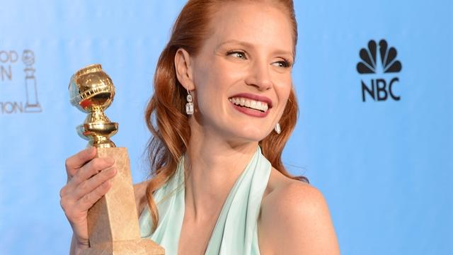 "Jessica Chastain, who just won a Golden Globe and is heavily favored to take home a Best Actress Oscar for her role in ""Zero Dark Thirty,"" stars in Guillermo del Toro's new psychological thriller, ""Mama.""  Alexis Christoforous reports."