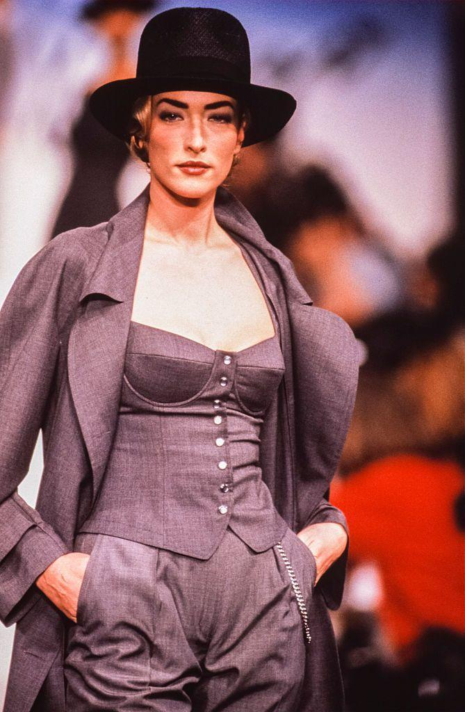 """<p>In some cases, Patitz is the one who rounds <em>up</em> the Big Five. Born in Germany and raised in Sweden, the statuesque blonde with killer eyebrows fronted the campaigns of Chanel, Jean-Paul Gaultier, Revlon, Cartier, L'Oréal, and more. But she is perhaps best remembered for starring in the music video for George Michael's """"Freedom! '90,"""" along with Naomi Campbell, Christy Turlington, Cindy Crawford, and Linda Evangelista. </p>"""