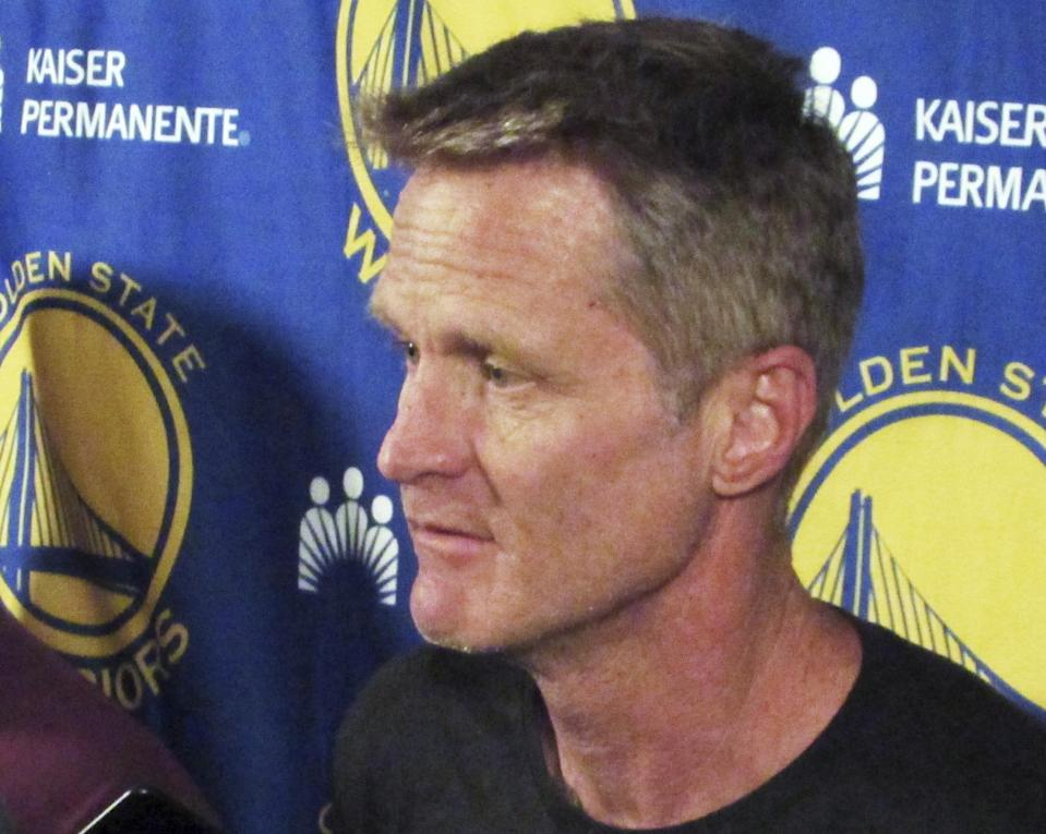 Steve Kerr is not certain whether he'll return to coach the Warriors in these playoffs. (AP)