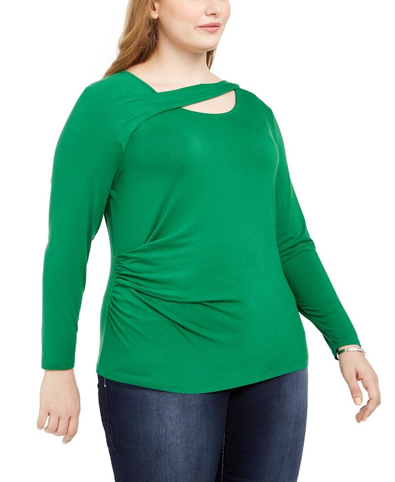 I.N.C. Twist Neck Long Sleeve T-Shirt. (Photo: Macy's)