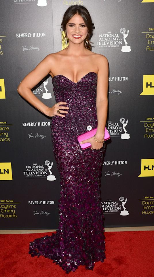 Shelley Hennig arrives at The 39th Annual Daytime Emmy Awards held at The Beverly Hilton Hotel on June 23, 2012 in Beverly Hills, California.