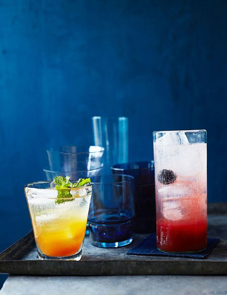 """<p>This nonalcoholic spritzer is made with orange juice, lemon juice, and soda water for a refreshing sip.</p><p><em><a href=""""https://www.womansday.com/food-recipes/food-drinks/recipes/a39995/mocktail-blackberry-spritzer-recipe-ghk0714/"""" rel=""""nofollow noopener"""" target=""""_blank"""" data-ylk=""""slk:Get the Mocktail Blackberry Spritzer recipe."""" class=""""link rapid-noclick-resp"""">Get the Mocktail Blackberry Spritzer recipe. </a></em></p>"""