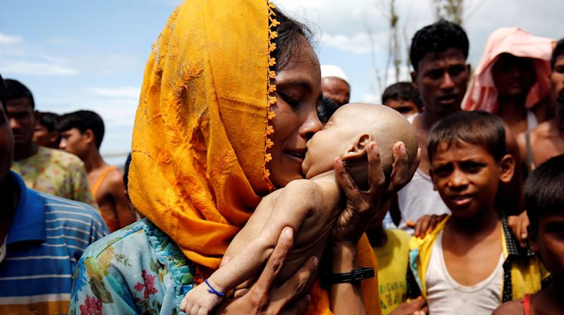 The bloodshed overtaking Myanmar's Rakhine state forced Hamida, a Rohingya Muslim, to run from her homeland last week.