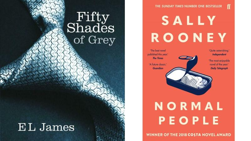 Fifty Shades of Grey and Normal People have been flying off the shelves. Images: Supplied