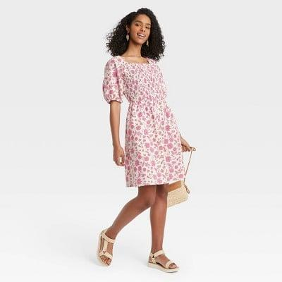 <p>Spend the weekend looking your most effortlessly <span>Universal Thread Puff Elbow Sleeve Smocked Dress</span> ($25)</p>