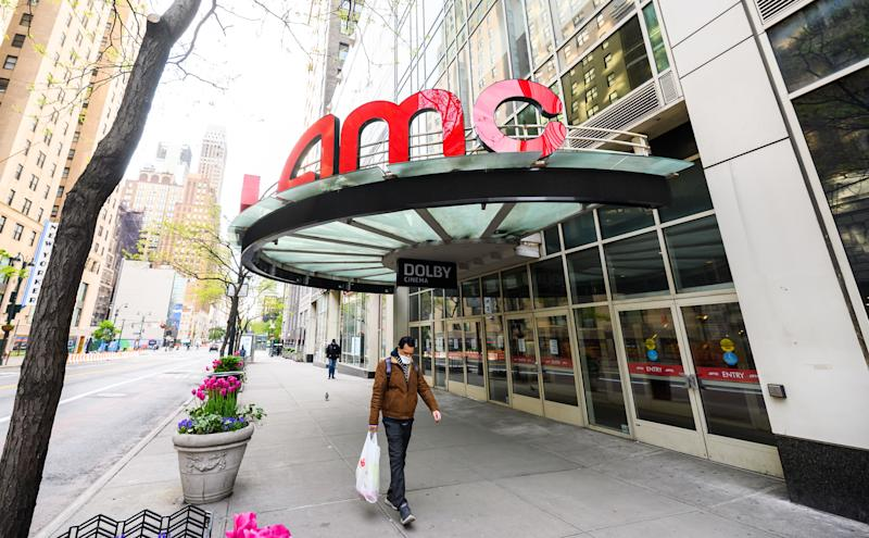 NEW YORK, NEW YORK - MAY 14: A view outside AMC 34th Street 14 movie theater during the coronavirus pandemic on May 14, 2020 in New York City. COVID-19 has spread to most countries around the world, claiming over 303,000 lives with over 4.5 million infections reported. (Photo by Noam Galai/Getty Images)
