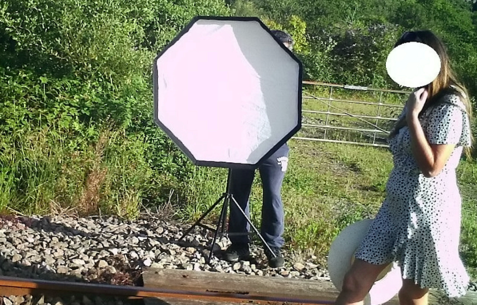 Trains travel up to 85mph on the line where the photoshoot was taking place. (SWNS)